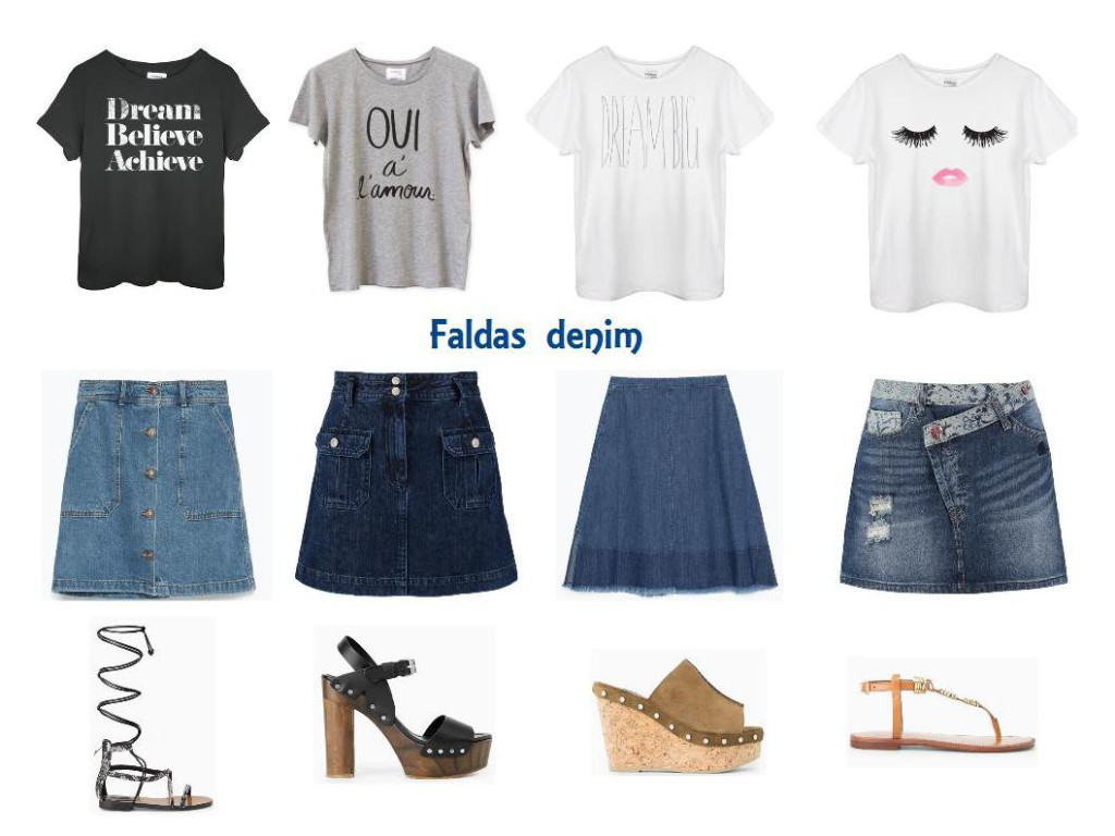 FALDAS DENIM mango sincerely jules